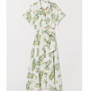 H&M Leaf Maxi Dress